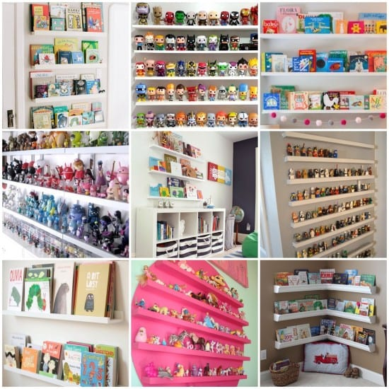 Picture ledge, kids bedroom storage