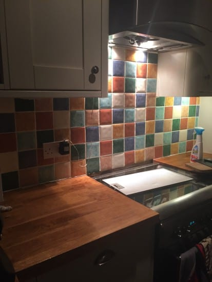 Kitchen tiles before