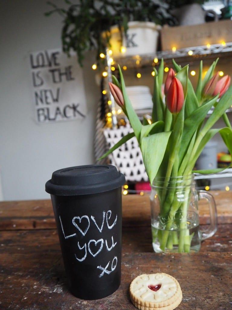Valentines gift chalk mug