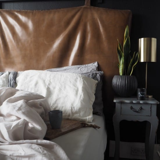 Kerry Lockwood - In Detail, leather Gym mat headboard, French Bedroom company styling shot
