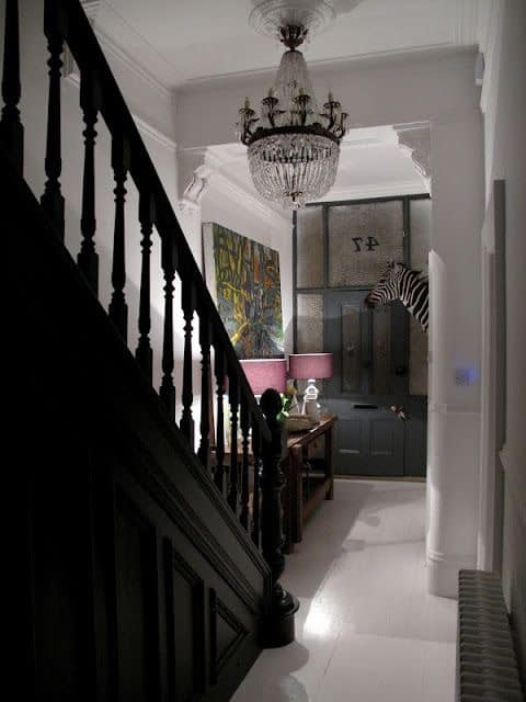 Dark painted staircase