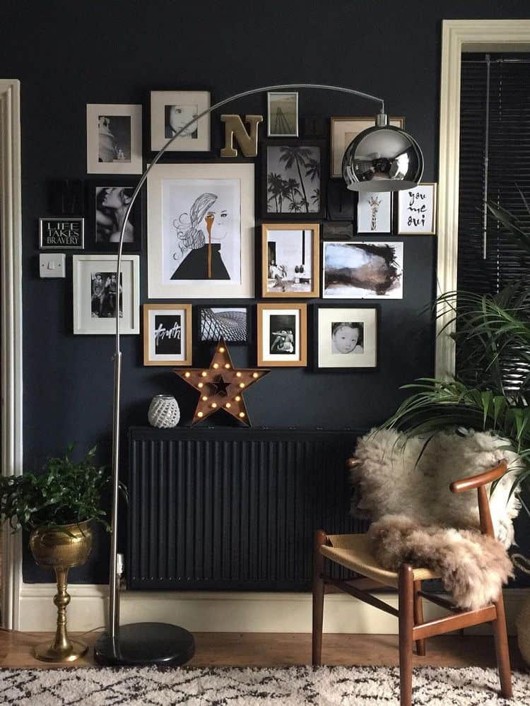 Mixing up metals in your home kerry lockwood in detail for Black wallpaper for bedroom walls