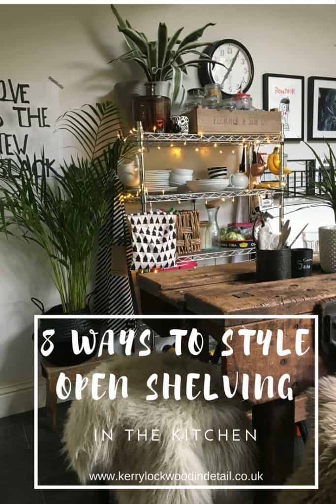 8 ways to style open shelving