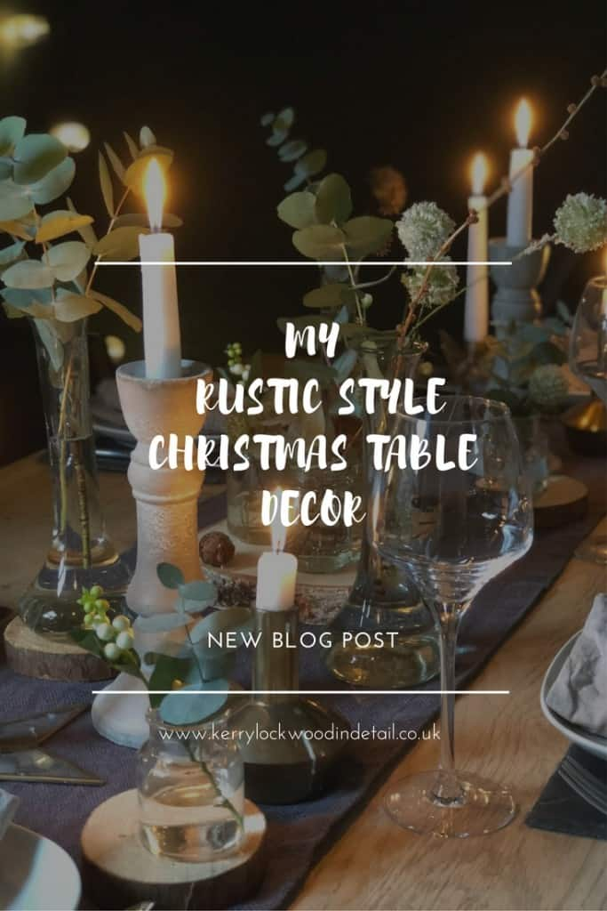 My rustic style Christmas table decor