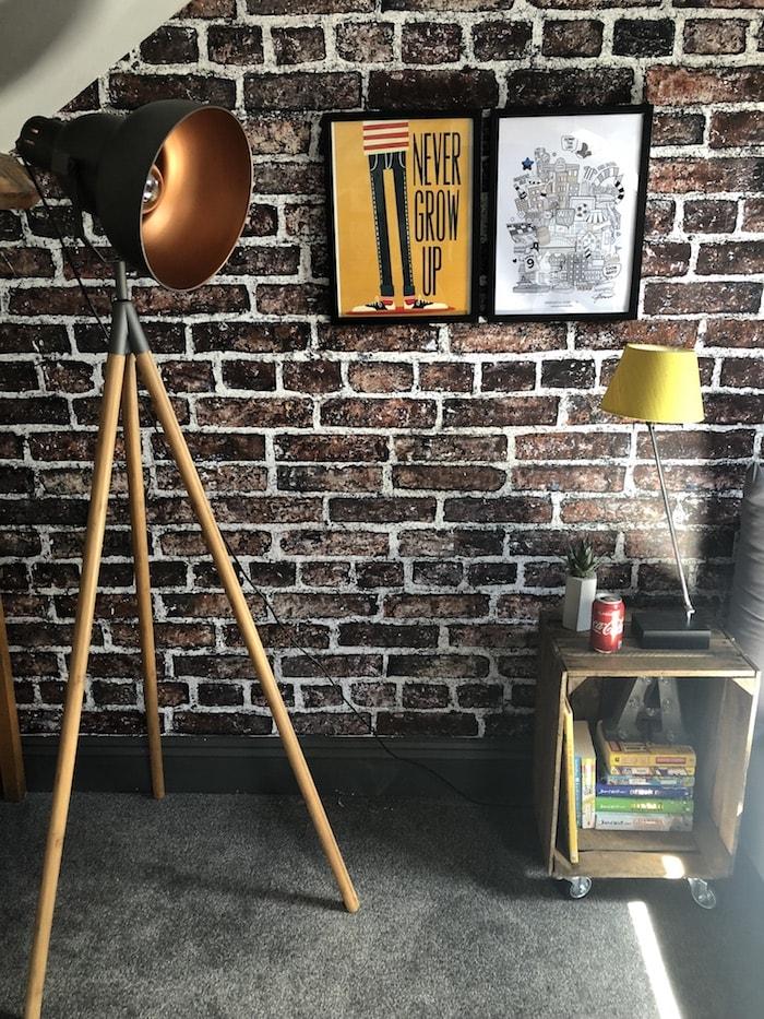 Revamp Restyle reveal, Teenage boys bedroom, Cotswold co floor lamp