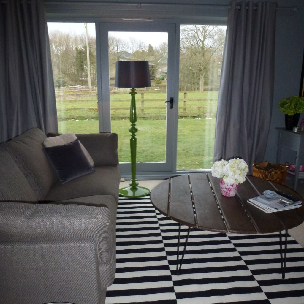 After photo, rental property makeover, dark interior