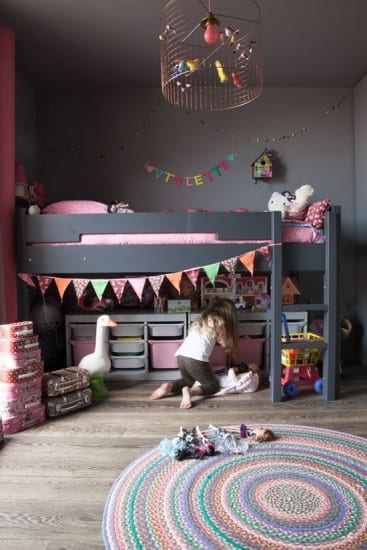 Loft bed, Girls bedroom