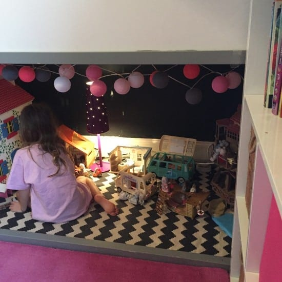 Loft bed, den, girls room