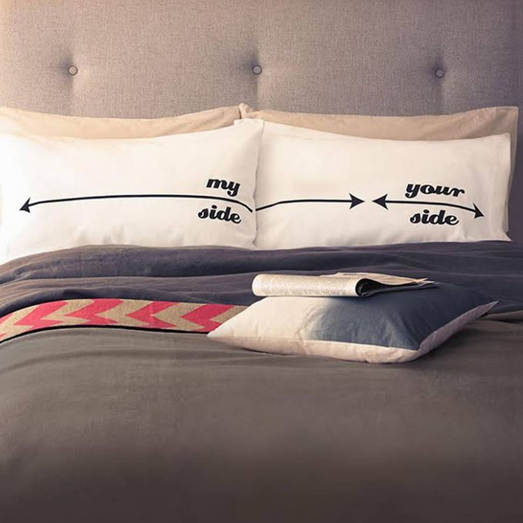 Valentines his and her pillow cases
