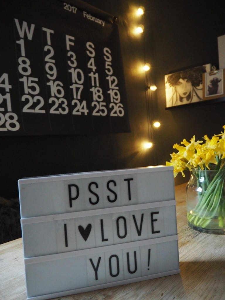 Valentines gift light box message