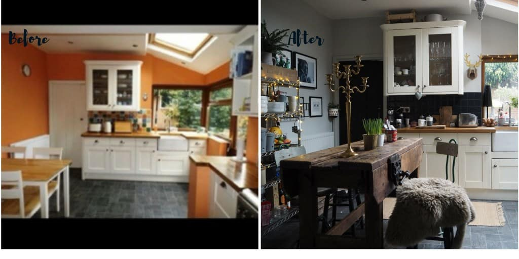Home renovation before and after photos