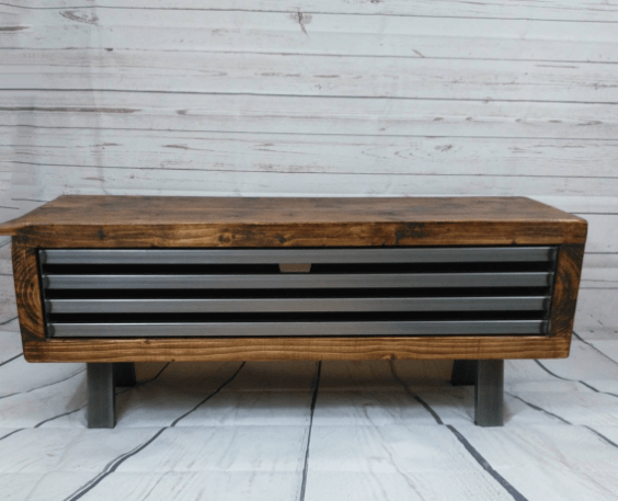 Industrial rustic TV cabinet