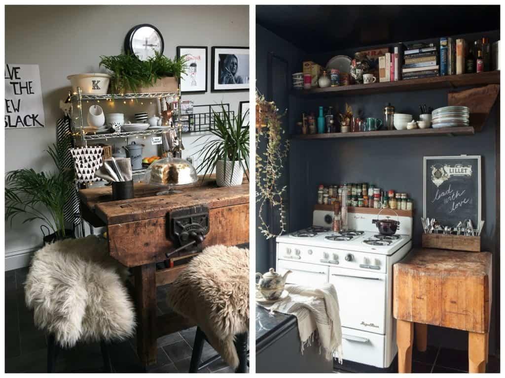 Statement furniture, changes to a rental kitchen