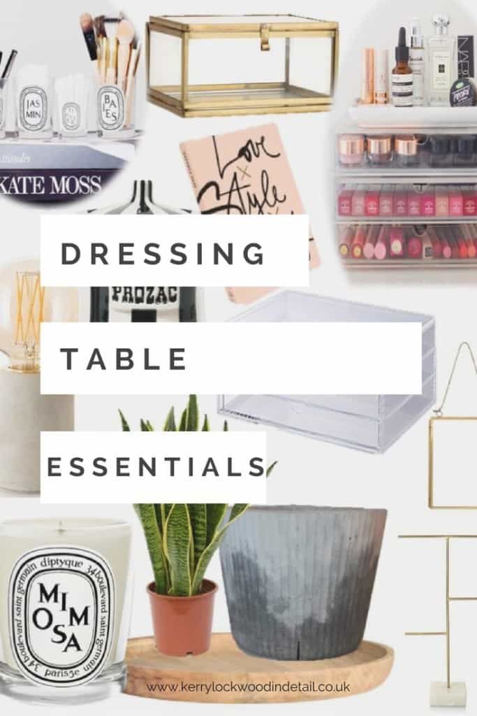dressing table essentials