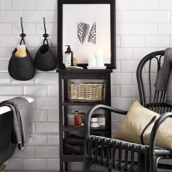 Stylish, freestanding bathroom storage.