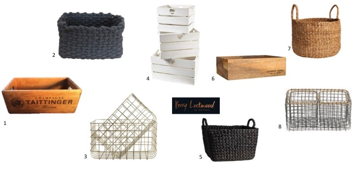 stylish bathroom storage, baskets