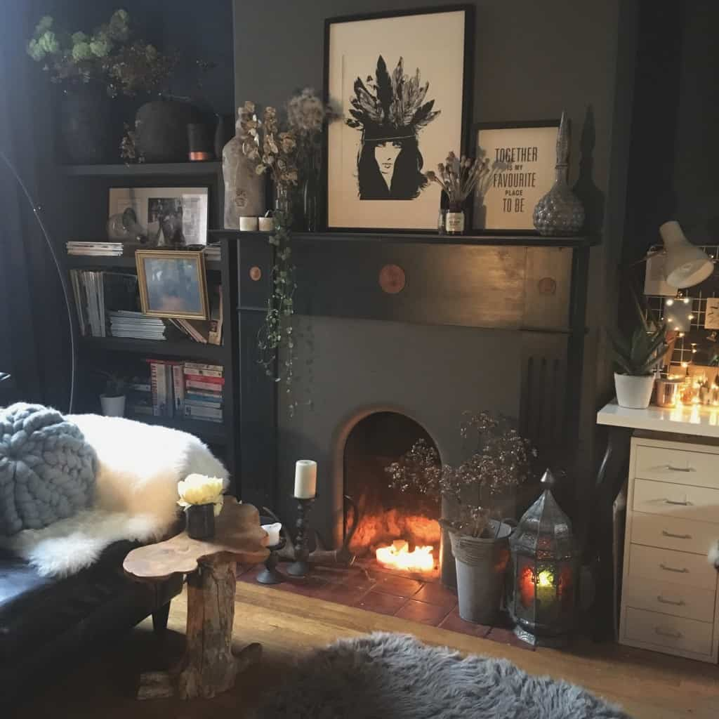 ways to style an unused fireplace