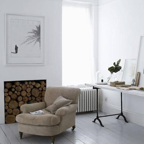 unused fireplace ideas, logs
