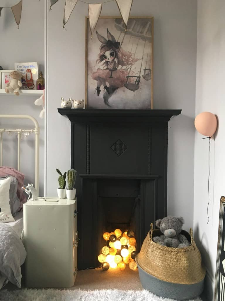 ideas for non working fireplaces, fairy lights