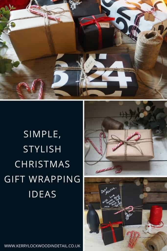 Simple, stylish Christmas gift wrapping ideas