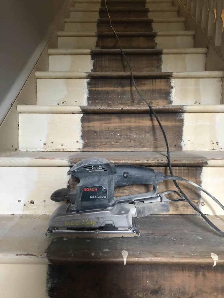 How I revamped my Hallway and stairs and the final reveal, floor sander