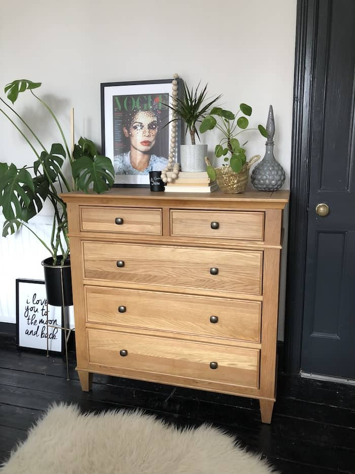 master bedroom makeover, Kerry Lockwood, wood chip removal, Oak furniture land drawers