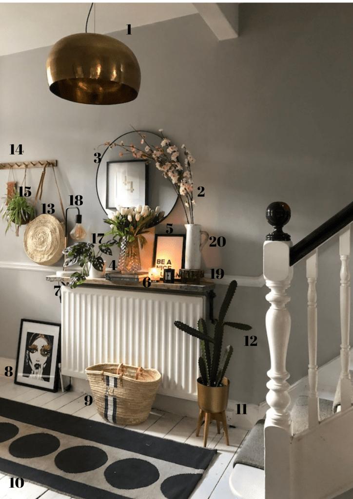 Spring styling - hallway update