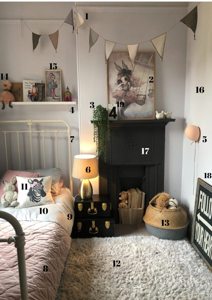 Get the look, girls bedroom styling