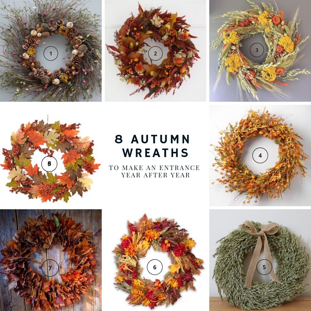 8 Autumn wreaths to use year after year