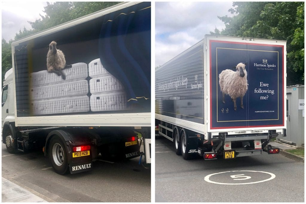 Harrison Spinks factory, John Lewis natural collection mattresses, lorry