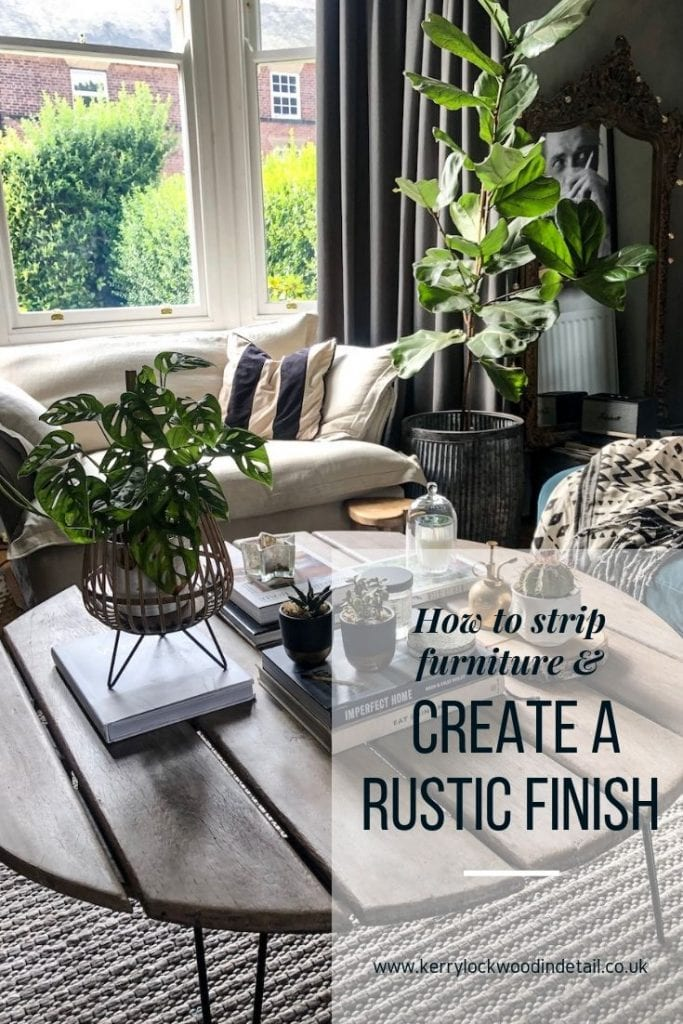 How to strip furniture back and give it a rustic finish