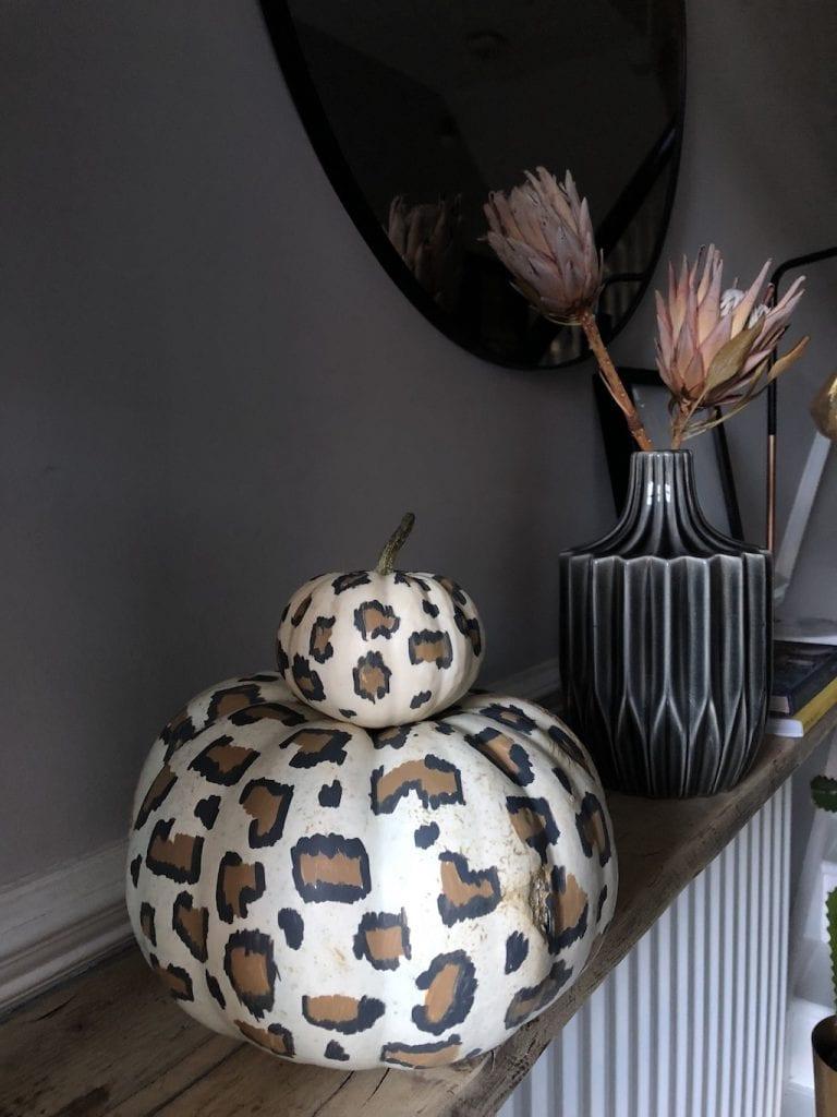 Leopard print pumpkins