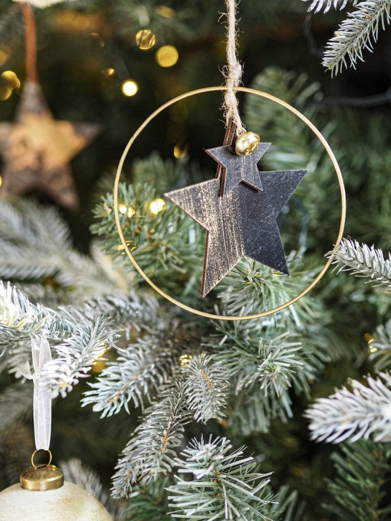 Christmas decoration, star hoop, Cox & Cox