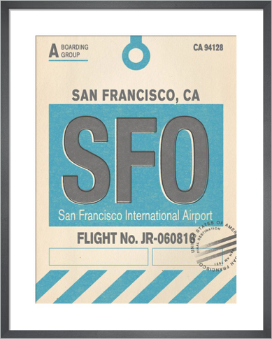 Destination- San Francisco by Nick Cranston print
