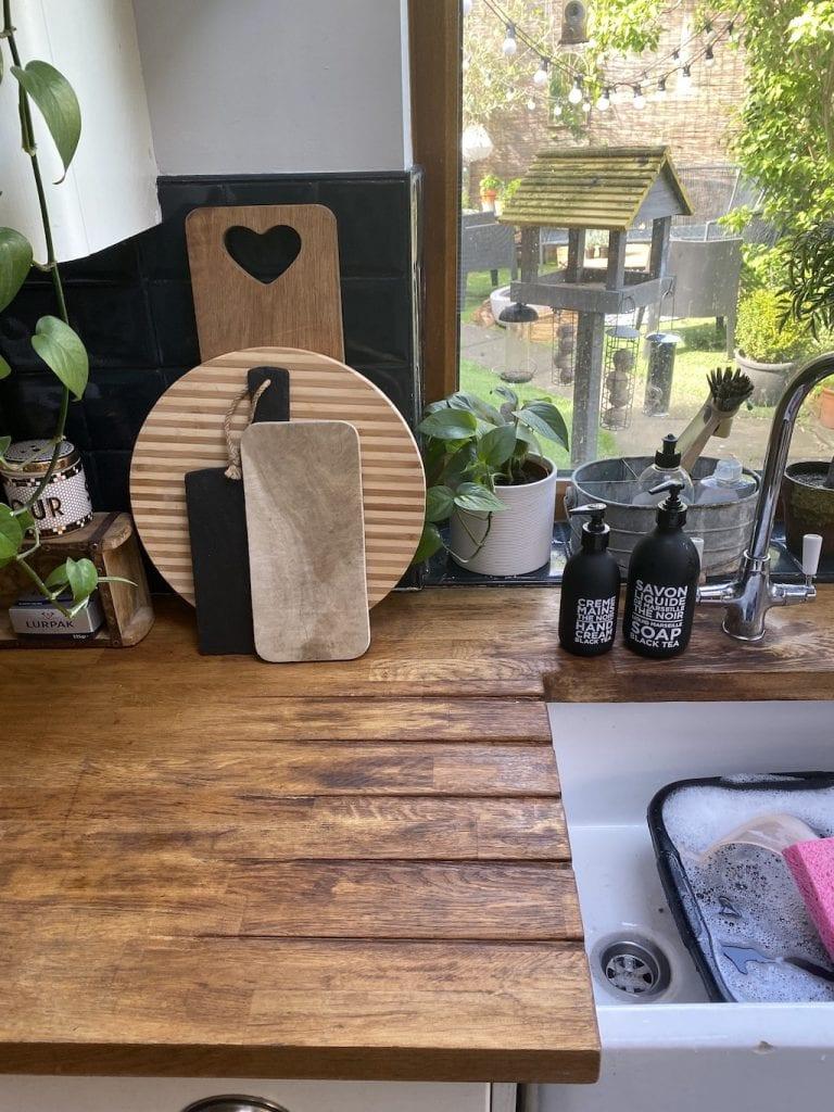 Finished kitchen worktop