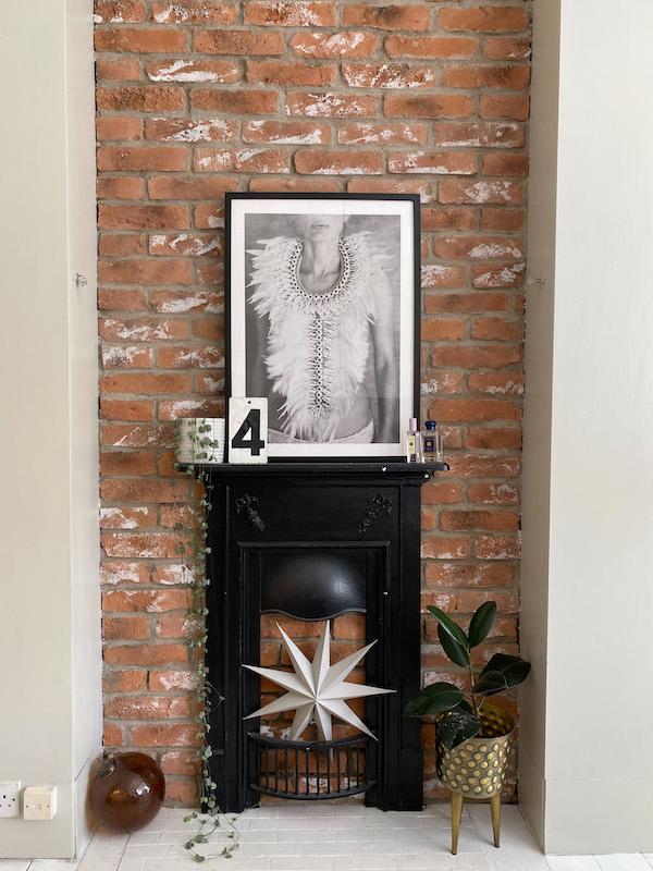 Brickslips fireplace bedroom