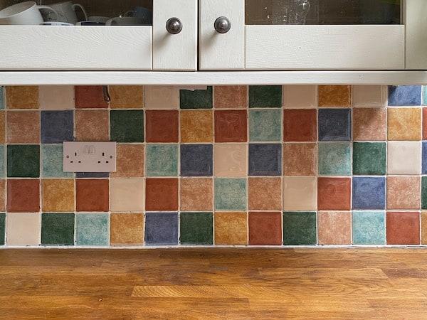 Tile paint before