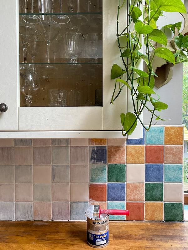 1st coat of Ronseal tile paint