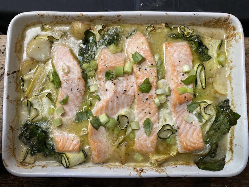 Thai green salmon